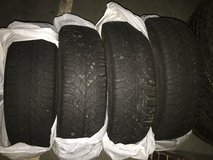 4 M+S WINTER TIRES AND RIMS 195/65R15 in Ramstein, Germany