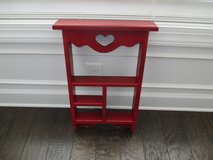 Red Wooden Wall Shelve/w/Heart in Pleasant View, Tennessee