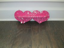 Pink & White Heart Hanger in Pleasant View, Tennessee