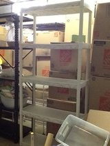White Shelving Unit in Oswego, Illinois