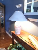 Almond Lamp w/Iris in Fort Campbell, Kentucky