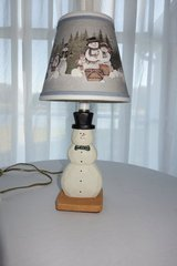 Small Snowman Lamp in Cherry Point, North Carolina