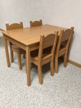 solid wood table and 4 chairs in Westmont, Illinois