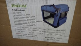 BRAND NEW LARGE DOG CRATE. FOLDABLE  TRAVEL in Aurora, Illinois