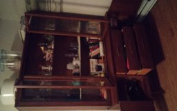 China Cabinet. Soild wood, built in 1962 in Cherry Point, North Carolina