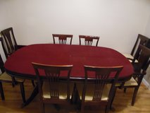 dining room set W/8 chairs(credit card accepted) in Camp Lejeune, North Carolina