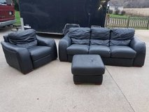 Leather Sofa, Chair, & Ottoman in Clarksville, Tennessee