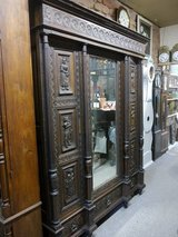 """france 3 door Cabinet with Mirror and a lot of carvings """" Britanny Style """" in Ramstein, Germany"""