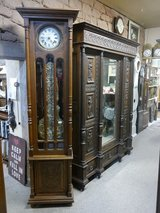 beautiful big france Grandfather clock, works around 1880/1890, solid oak in Ramstein, Germany