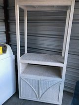 Wicker TV Stand with Cabinet in Camp Lejeune, North Carolina