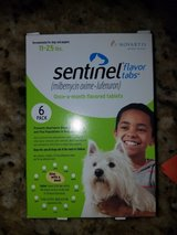 Sentinel flea prevention 11-25lb in Fairfield, California