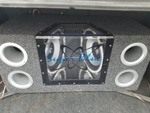 Subs with box and amp in Fort Leonard Wood, Missouri