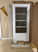 White storm door in Fort Campbell, Kentucky
