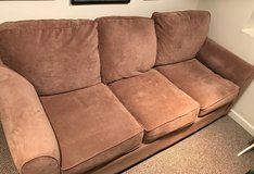 Queen Sleeper Sofa w/Inflatable Mattress in Lockport, Illinois