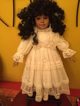 African American porcelain doll in Morris, Illinois