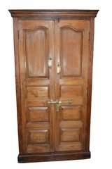 Huge British Colonial Distressed Teak Antique Cabinet Old World Brass Latch18c in Davis-Monthan AFB, Arizona