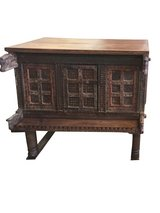 Antique Console Carved Iron nailed Chest Damchia Banjara Tribal Sideboard in Davis-Monthan AFB, Arizona