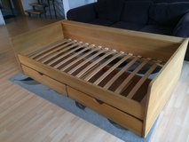 Wood Bed with drawers - 90/200 sized in Stuttgart, GE