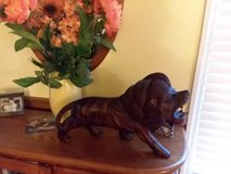 Hand Carved Solid Mahogany Lion in Cherry Point, North Carolina