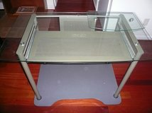 Glass Top Computer Desk & Chair in Fort Belvoir, Virginia