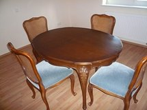 Vintage German Dining Room Set (Table & Chairs) in Quantico, Virginia