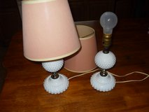 Antique White Hobnail table lamps in Fort Leonard Wood, Missouri