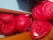 4 red bean bags chairs in Fort Campbell, Kentucky