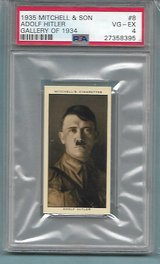 SUPER RARE 1935 ROOKIE ADOLF HITLER AUTHENTICATED TOBACCO CARD. in Ramstein, Germany