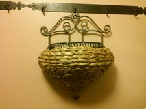 Wicker Iron Wall Hanging Planter in Tinley Park, Illinois