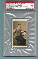SUPER RARE 1931 WILLS WALT DISNEY & MICKEY MOUSE RC CARD in Ramstein, Germany
