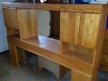 Oak Headboard for King-sized Bed (Free Standing) in Plainfield, Illinois