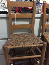 Ladder Back chair , Used with rush/cane bottoms ONLY TWO LEFT in Perry, Georgia