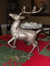 "HEAVY SILVER PLATED ""CHRISTMAS REINDEER"" 17"" TALL OVER 10 POUNDS in Camp Lejeune, North Carolina"