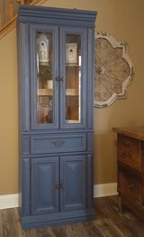 Refinished Curio Cabinet in New Lenox, Illinois