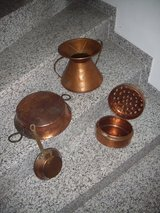 Copper pots and pans in Ramstein, Germany