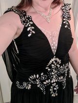 Gorgeous black and silver beaded ball gown in Camp Pendleton, California