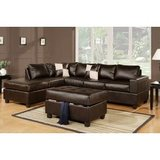 Brown faux leather sectional couch in Fort Campbell, Kentucky