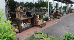 Many rustic decorations for inside and outside use in Ramstein, Germany