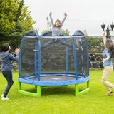 Kids 88inch hexagon trampoline w/ enclosure in Aurora, Illinois