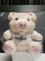 """Bank One"" Plush Piggy Bank - NIP! in Bartlett, Illinois"