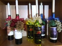 Candle wine bottle centerpieces (hand-made) in Joliet, Illinois
