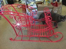 Christmas Sleigh (metal, great for decor or photo prop) in Travis AFB, California