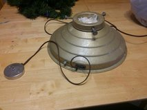 Vintage rotating tree stand in Oswego, Illinois