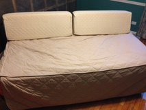 Twin Trundle Bed w cover and back bolsters in Chicago, Illinois