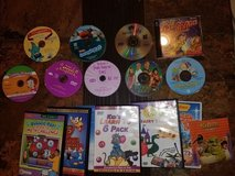 16 Pieces Kids Movies and Educational DVD's in Oswego, Illinois