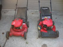 2 Troy-Bilt Lawnmowers with Bags in Kingwood, Texas