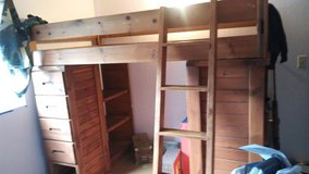 solid pine loft bed in Tacoma, Washington