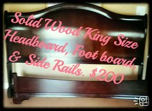 King-size Solid Wood Sleigh Bed in Byron, Georgia