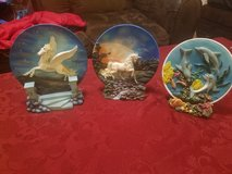Collectible decorative plates in Fort Riley, Kansas
