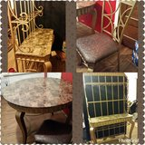 Bakers rack and matching table w/four chairs in Oswego, Illinois